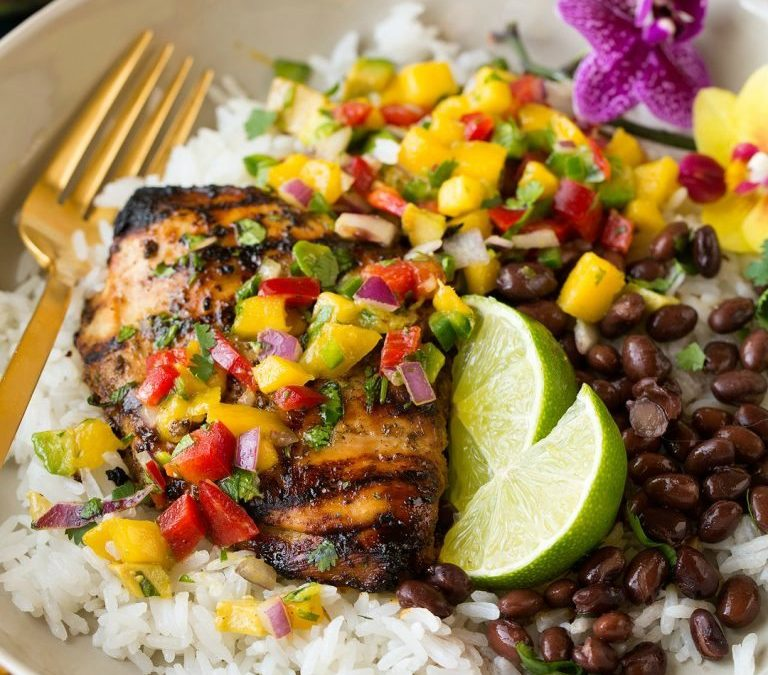 Grilled Chicken Breasts – Tropical Style