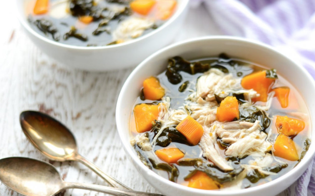 Super Easy Chicken, Kale, And Sweet Potato Stew