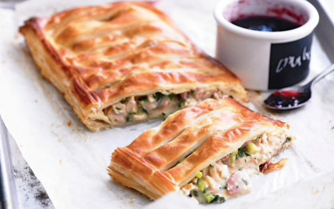 Turkey & ham free-form pie